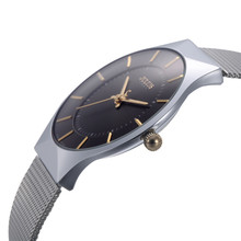 Top Marca Julius Relojes para hombres de Acero Inoxidable Banda Reloj de Pulsera Analógico Cuarzo de los Deportes de La Correa Neta Ultra Thin Dial Relojes De Lujo hombres