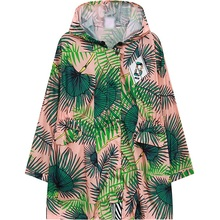 Womens Long Jacket 2016 Summer Printed Oversized Parka Coats Casual Outerwear Woman Loose Design Plus Size Hooded Top Pink Black
