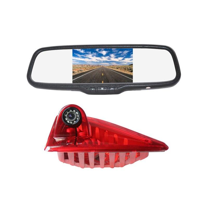 Vardsafe | caméra de recul de feux de freinage + moniteur de rétroviseur à clipser pour Renault Master/Opel Vauxhall Movano (2010-2019)