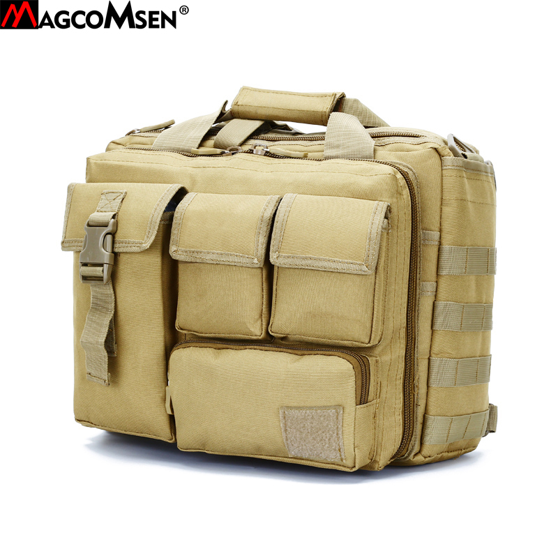 MAGCOMSEN 36x25x29cm Classic Men Briefcase Nylon Durable Laptop Computer Bags Man Camouflage Military Army Work Bags