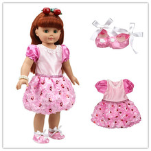 American Girl Doll Baby Doll Clothes Accessories Dress+Shoes