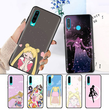 Black Silicone Cover Case for Huawei P30 P20 P10 Mate 20 10 Nova 5 5i Lite Pro P Smart+ Z 2019 Soft Shell Sailor Moon Anime