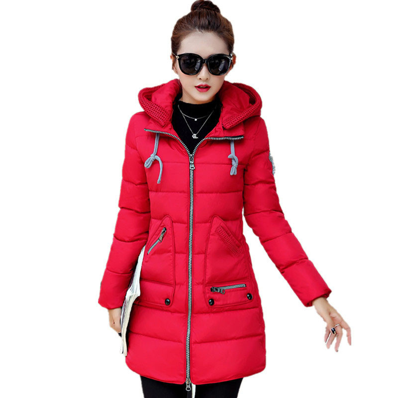 New Winter Women Coat Thick Parkas Plus Size Female Slim Clothing Cotton Outerwear Ladies Chaquetas Mujer women winter coat cotton wadded clothing zipper female hooded thick coats slim warm parkas pockets ladies outerwear plus size