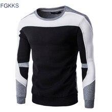 FGKKS 2017 New Arrival Spring Hoodie Sweatshirt Men Fashion Quality Cotton Hoodies Men Casual Hoody Sweatshirts Male Size M-2XL