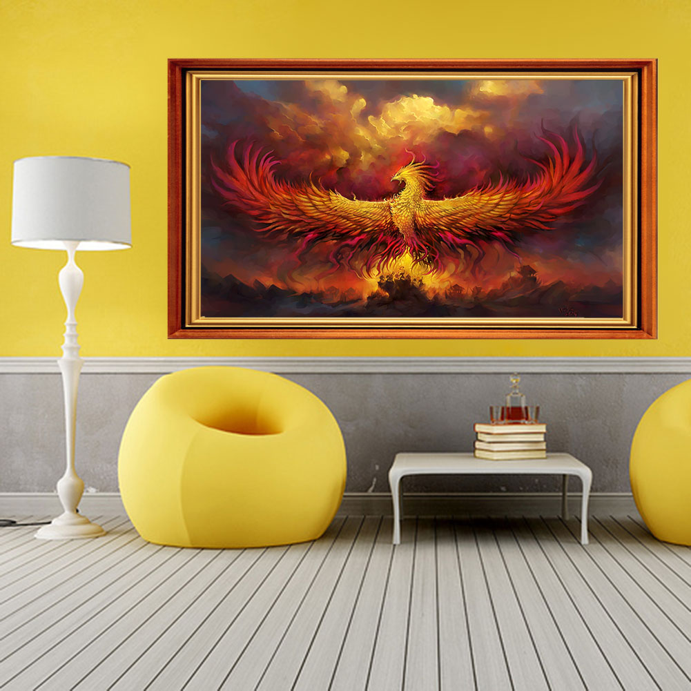 Hot Sale Phoenix Nirvana 5D Diamond DIY Painting Embroidery Cross ...