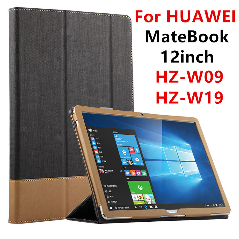 Case For HUAWEI MateBook Smart cover 12inch Faux Leather Protective Tablet PC For HUAWEI MateBook HZ-W09 HZ-W19 HZ-W29 Protector luxury print fold stand pu leather skin magnetic closure case protective cover for huawei matebook hz w09 hz w19 12 inch tablet