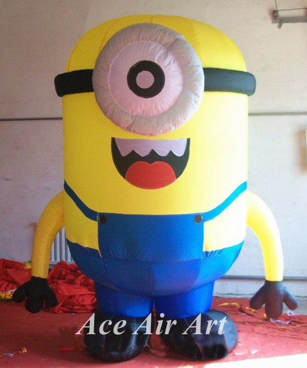 Hot sale large inflatable minion, minion balloon for advertising