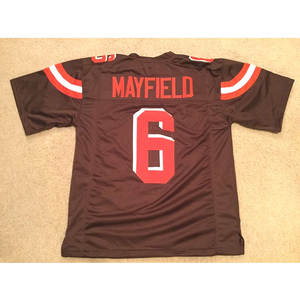 ca17d860d92 Mayfield Stitched Name & Number Throwback Football Jerseys