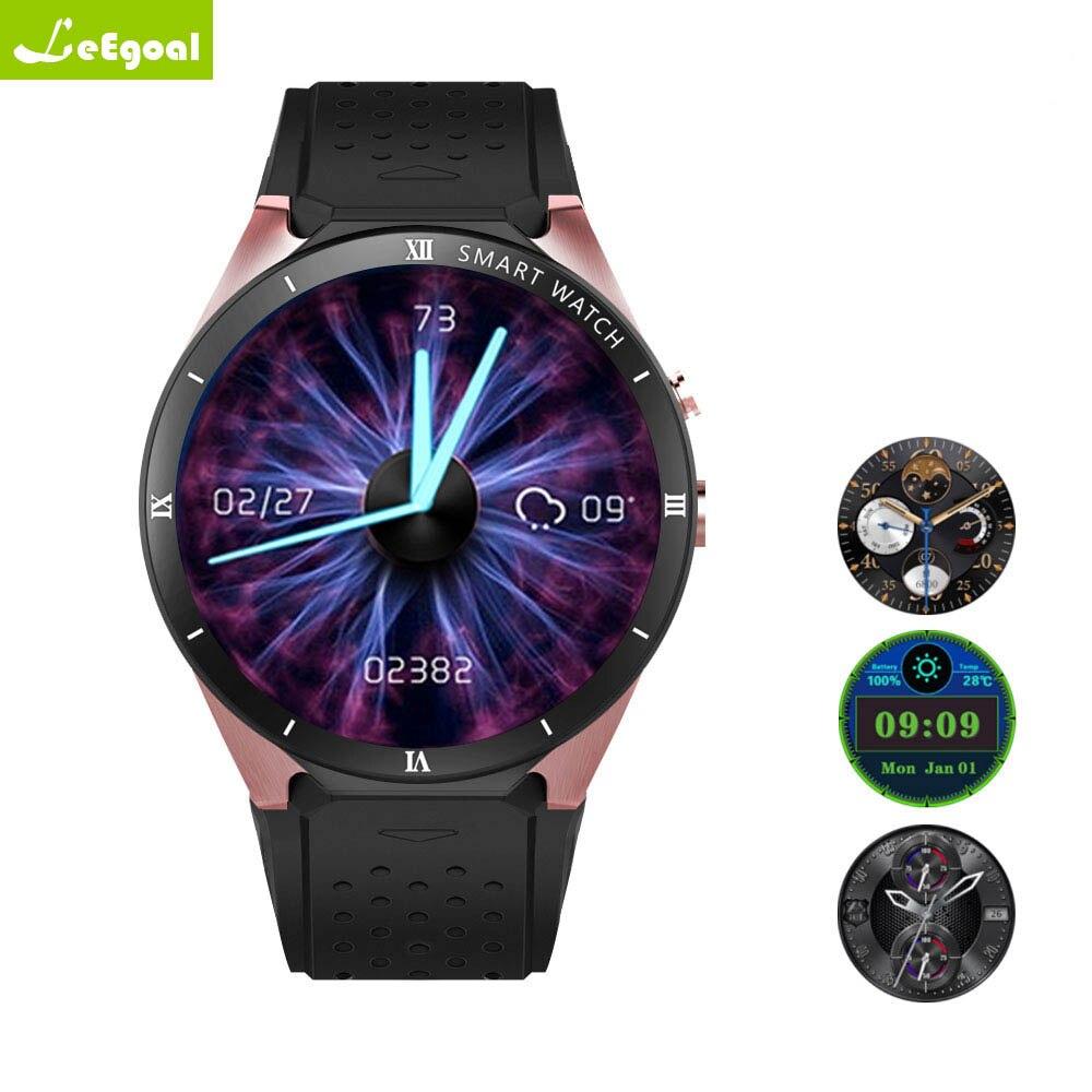 Leegoal kw88 pro 3G Del Telefono Smartwatch Android 7.0 MTK6580 Quad Core da 1.3 GHz 1 GB di RAM 16 GB di ROM vigilanza del telefono Smartwatch