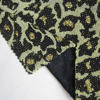 270cm*145cm african sexy leopard slim prom party dresses spandex fabric 2017 french shining diy sewing long skirt knitted fabric