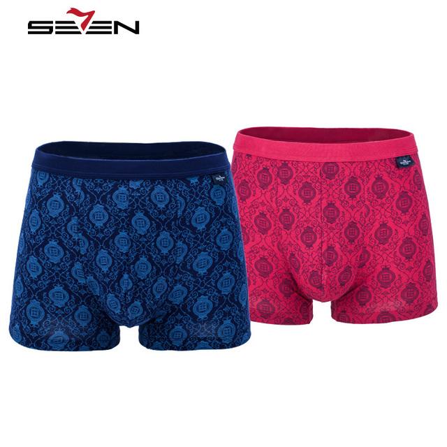 Seven7 marca homens boxers homens underwear modal confortável respirável macio 1 peça floral todos os mais de impressão tamanho grande boxeador 109g40030