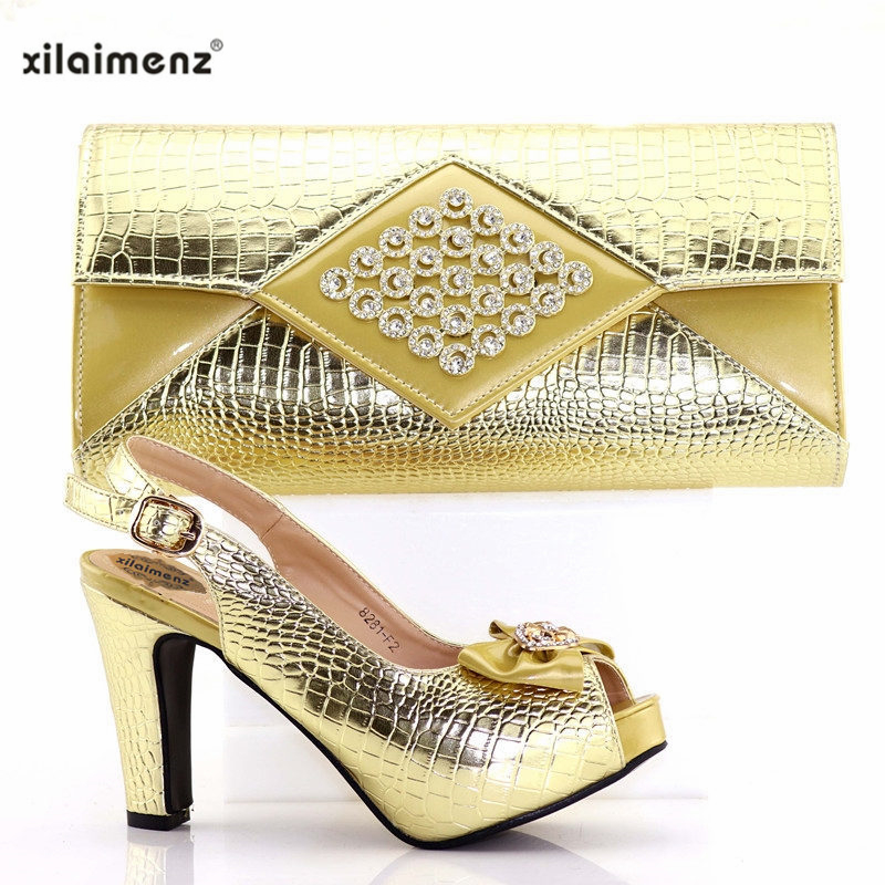 Fiesta gold De Con Nigeria red Italiano Bolsos Oro Mujer Color Tacones Bolso A Señoras Juego En Y purple Black Real Zapatos Bolsa Altos RrqpR