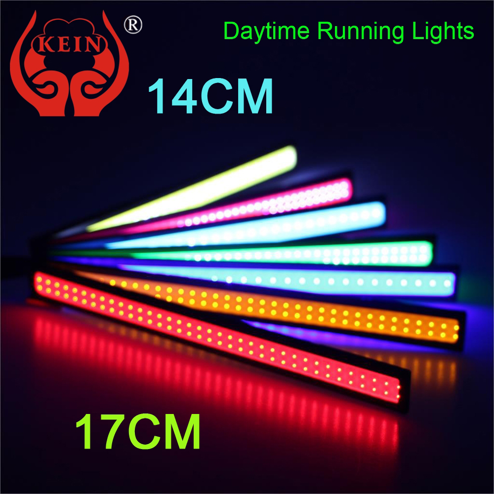 KEIN 2PCS 17CM DRL 14CM Auto car LED COB DRL daytime running lights modification car styling 12V Day Light Parking Fog Bar Lamp leadtops led daytime running light 2pcs 100% cob chip led diy drl fog car lights car day lamp 12v for audi vw toyota mazda be