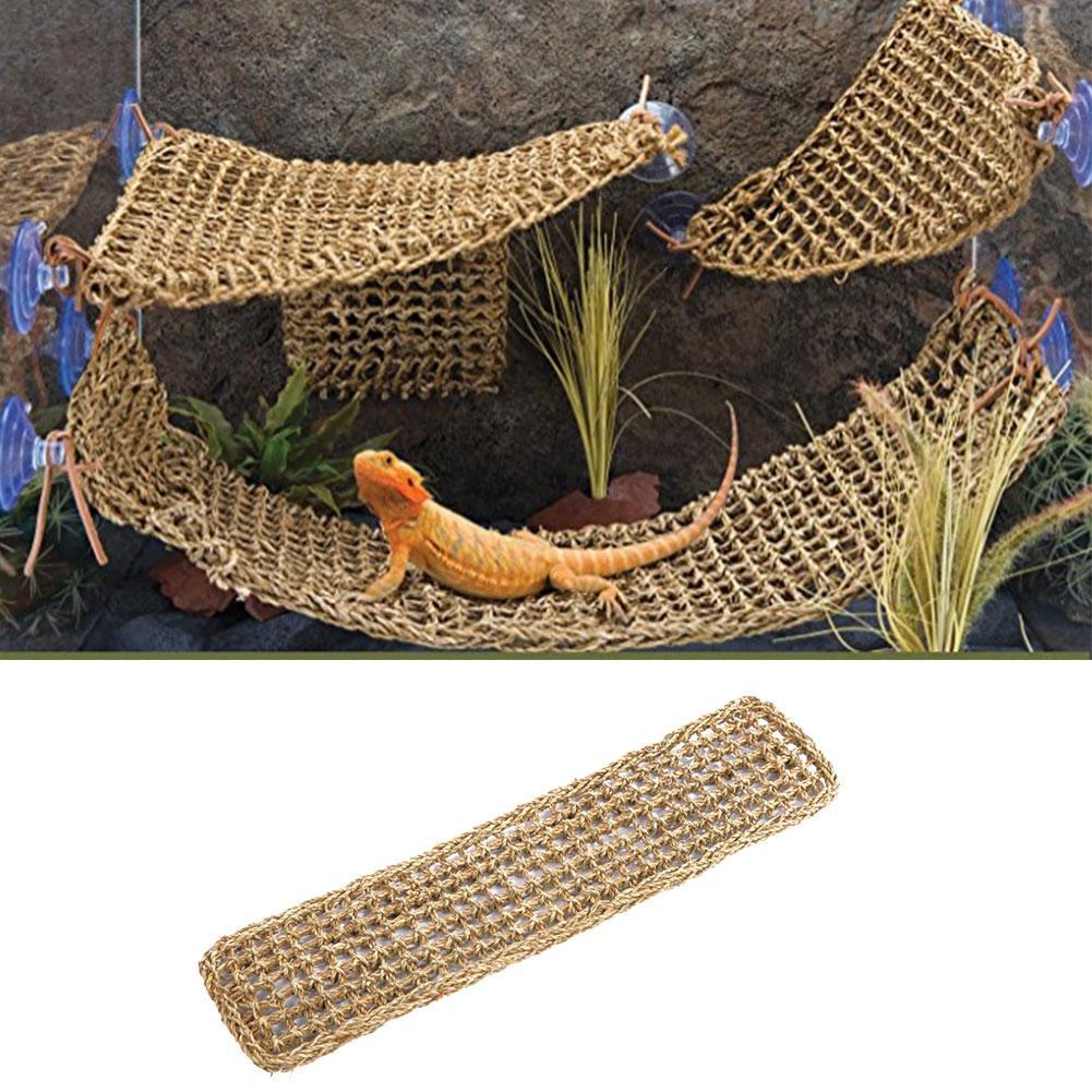 Algas lagarto hamaca columpio tumbona mascotas reptil juguete colgante cama Mat pequeño cangrejos ermitaños Geckos cama reptil mascotas accesorios