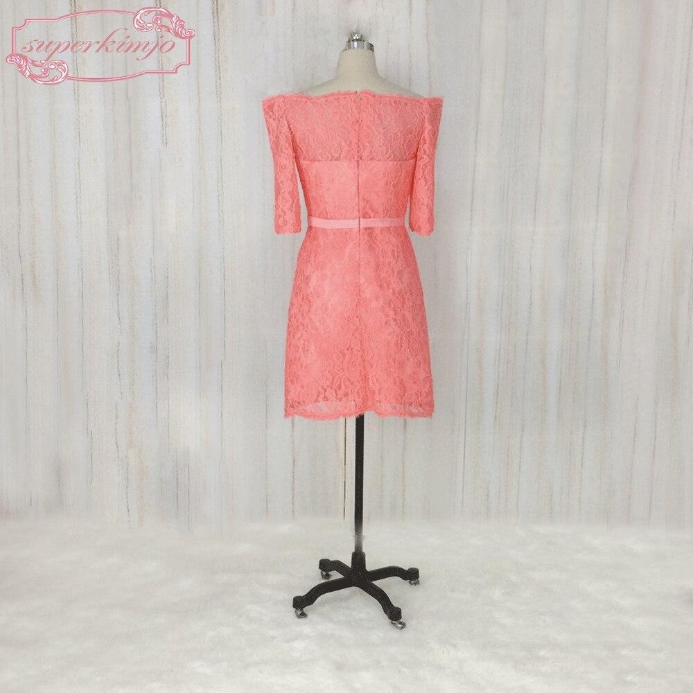 Superkimjo vestidos de madrinha hombro color coral Vestidos de dama ...
