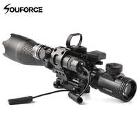 4-16X50EG Rifle Scope in Set DIY Combination with Sight or Red/Green Dot or Red/Green Laser for Hunting Rifle Gun Airsoft