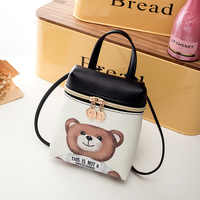 Miyahouse Women New Mobile Phone Bag Cartoon Messenger Mini Bear Backpacks Lady Cute Cartoon Character Printed Crossbody Bag