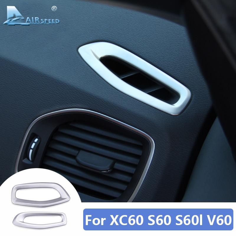 Рамка для вентиляционного отверстия кондиционера для Volvo S60 S60l XC60 V60, аксессуары 2012 2013 2014 2015 2016 2017, наклейка, внутренняя отделка
