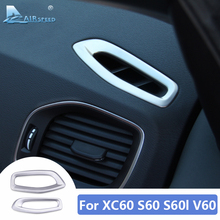 Air Conditioning Vent Outlet Frame for Volvo S60 S60l XC60 V60 Accessories 2012 2013 2014 2015 2016 2017 Sticker Interior Trim