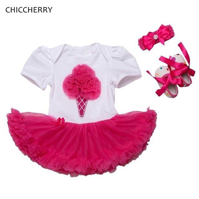 Мороженое Девочка Одежда Классическая Детская Кружева Пачка Установить Заставку и Обувь Birthday Party Dress Vestido Де Bebe Малышей Наряды