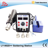 Auto Sleep Function 700W Smart LY 952D Dual Led 2 In 1 Solder Station
