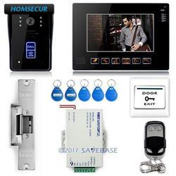 """Homssecur 9 """"видео телефон двери дверные звонки домофон системы совместимость RFID Брелки CCTV"""