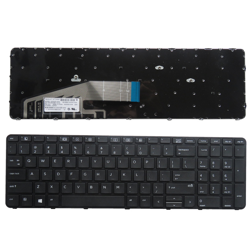 SSEA New laptop US Keyboard For ProBook 450 G3 455 G3 470 G3 black Free Shipping