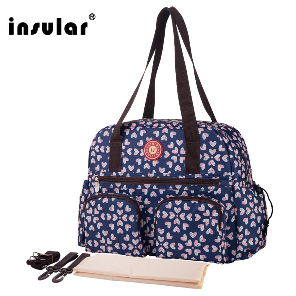 W nowym stylu Insular z nadrukiem modna torba na pieluchy dla - Pieluchy i Trenowanie toalety - Zdjęcie 1