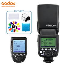 Godox Ving V860II V860II-N Speedlite flash 2.4G GN60 TTL+Xpro-N Wireless Trigger Flash for nikon Camera D800 d700 D7100 D700 new meike mk mt24 wireless dual flash speedlite trigger macro photography for nikon camera dual flash speedlite trigger