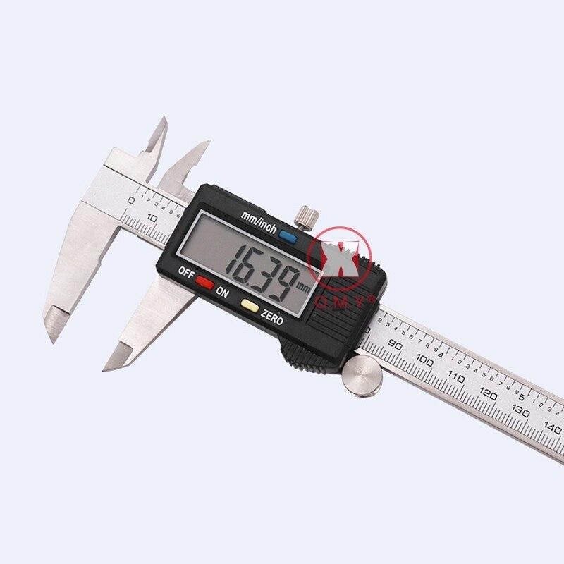 Omy metal 6 pulgadas 150mm digital Vernier Caliper micrómetro calibrador Widescreen electrónico con precisión de medición herramienta de mano