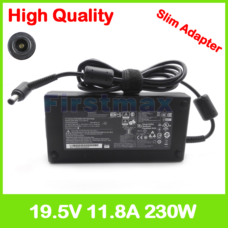 Slim 19.5V 11.8A 230W laptop ac power adapter charger for Acer Predator 15 G9-593 G9-593G 17 G9-793 G9-793G 17X GX-791 new predator cooling fanor for acer predator 15 17 17x g5 g9 592 g9 593 g9 g9 791 79xv g9 792 g9 793 cd rom cooling fan