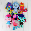 Newest 6 styles Trolls Plush Toys Poppy Branch Stuffed Cartoon Dolls The Dreamworks Trolls Christmas Gifts