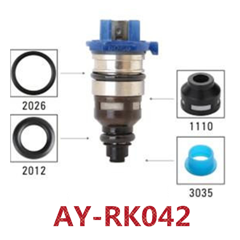 Fuel injector repair kits fuel injector filter viont o ring plastic pintle cap for Mazda 626 AY-RK151 40pieces/bagFuel injector repair kits fuel injector filter viont o ring plastic pintle cap for Mazda 626 AY-RK151 40pieces/bag