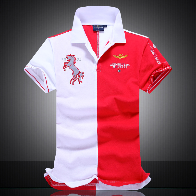 2017 new polo shirts man embroidered horse logo brand air