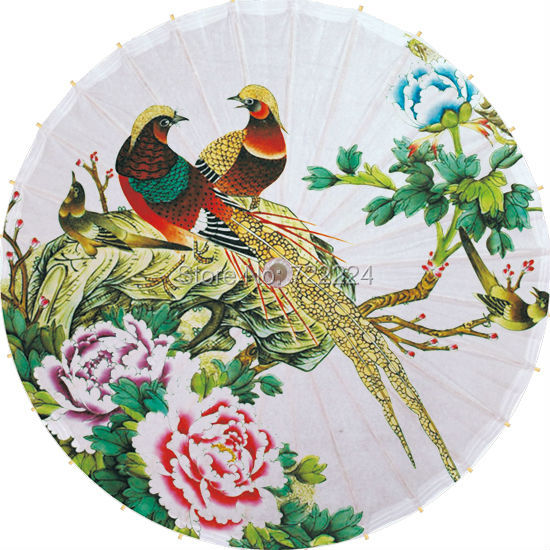 Free shiping handmade chinese craft umbrella bamboo and oiled paper peony picture dance decorative gift collection umbrella