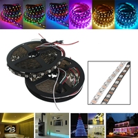 5M WS2812 IC SMD5050 300 LED RGB Strip Light Lamp Non waterproof Dream Color Individual Addressable Christmas Decoration DC5V