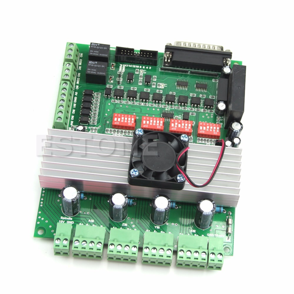 4 Axis New TB6600 CNC Controller Max Current 5A 36V Stepper Motor Driver Board free shipping high quality 4 axis tb6560 cnc stepper motor driver controller board 12 36v 1 5 3a mach3 cnc 12