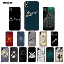 Babaite always Harry Potter Deathly Hallows Soft Phone Case for Apple iPhone 8 7 6 6S Plus X XS MAX 5 5S SE XR Mobile Cover(China)
