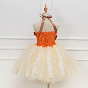 Image 3 - Платье принцессы, пачка Моаны для девочек, вечерние платья на день рождения, детские кружевные тюлевые платья с цветами для девочек, Детский карнавальный костюм на Хэллоуин