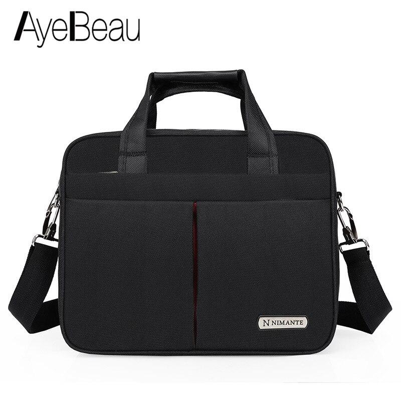 Portable Work Business Office Male Messenger Bag Men Briefcase For Document Laptop Computer Handbag 15.6 Tablet PC Satchel A4