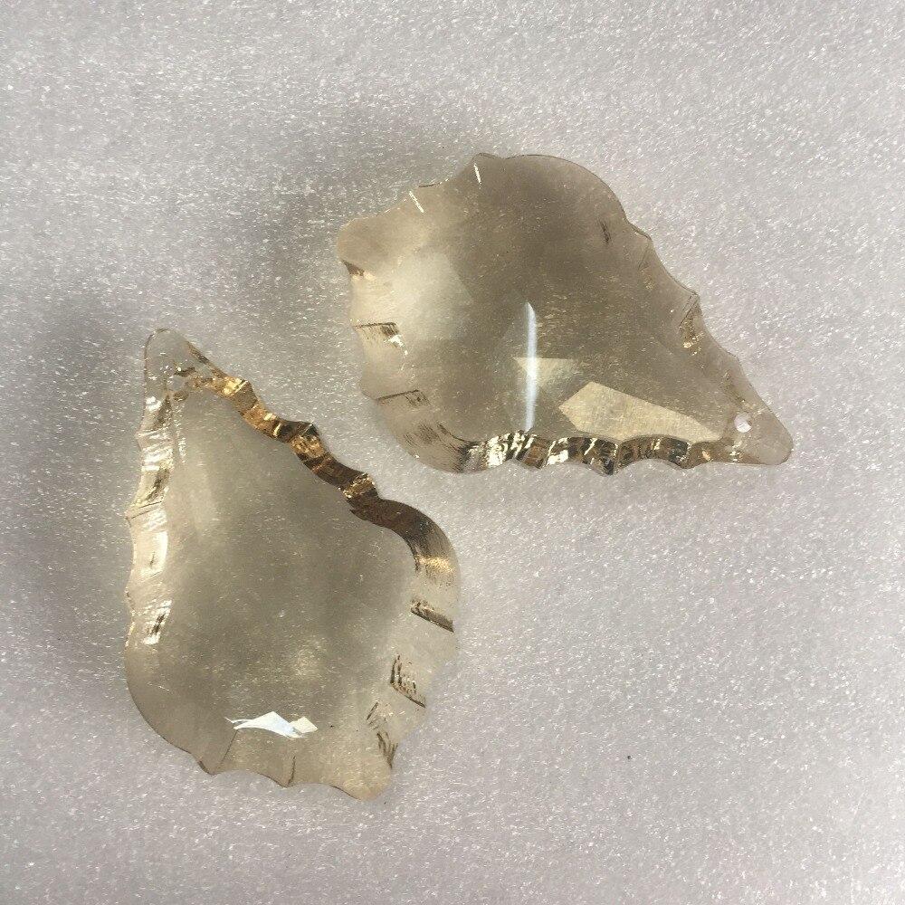 Cognac 20pcs/Lot 50mm Crystal Chandelier Pendants Glass Prism Parts For Wedding & Home Decoration