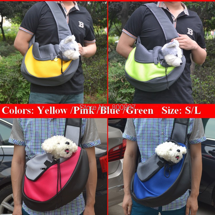 Pet Carrier Carrying Cat Dog Puppy Small Animal Sling Front Carrier Mesh Comfort Travel Tote Shoulder Bag Pet Backpack SL 2