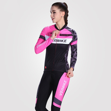 VEOBIKE 2017 Cycling Jersey Women Bicycle Jersey Jacket Cycling Clothing Sets MTB Bike Clothes Jersey Set for Girls