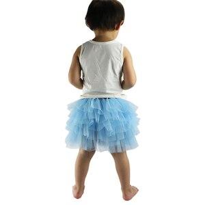 Wennikids/Танцевальная юбка-пачка из тюля ярких цветов для маленьких девочек Милая однотонная модная юбка-американка От 3 до 8 лет