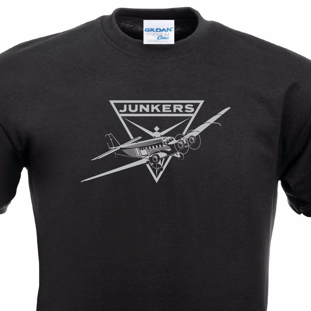 Black t shirt designs - Brand T Shirt Men 2017 Fashion 100 Cotton For Man T Shirts Design T Shirt Tante Ju 52 Hugo Junkers Luftwaffe Aircraft Flieger
