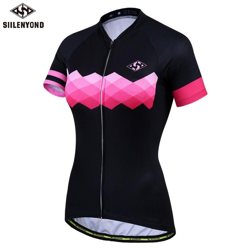 Siilenyond Mulheres Pro Cycling Jersey Verão Anti-UV Respirável Roupas de Ciclismo  Bicicleta Mountain Bike 6a8c397bce