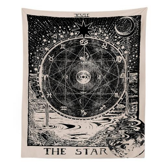 Tarot Hanging Tapestries Sun Star Moon Tapestry 1