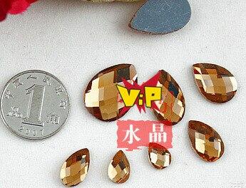 Shining ! 100pcs/pack 6x9mm Crystal Pointback Silver Base Teardrop Rhinestone Jewelry Accessary DIY Handcraft