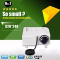 Excelvan GM40 Portable Mini Projector Multimedia Cinema Theater Digital LED Projector  VGA/USB/SD/AV/HDMI Projector