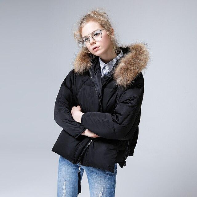 Toyouth 80% белая куртка-пуховик с меховым воротником, зимняя утепленная теплая парка с капюшоном, пальто, Женское пальто, пуховики